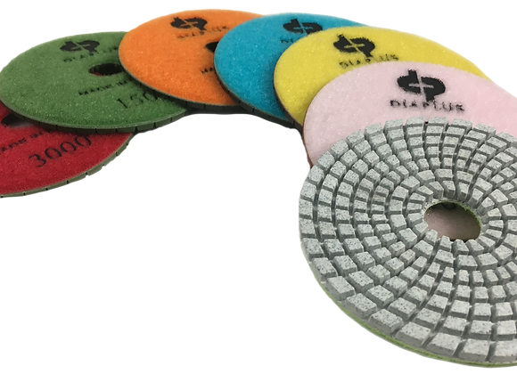 7-Step White Engineered Stone Polishing Pads