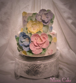 Floral Feathered Cake