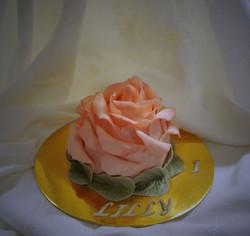 Elegant Rose Smash Cake