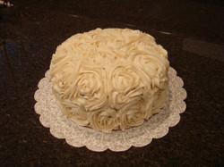 Vanilla Bean Roses Cake - any flavor