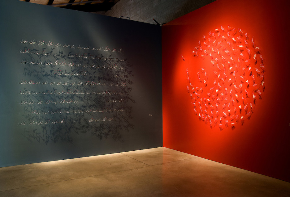 CLAY AND GLASS GALLERY Intallation 'Memory' & 'Birth' Curator / commissaire Virginia Eichhorn