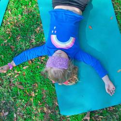 Savasana. Yoga relaxation.