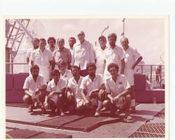 Proff. Broglio e Sirinian con allievi Corso Scout, S. Rita, 1972
