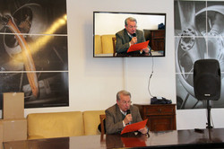 Bruno Bernabei reading out message from O. Schwarzenberger - 26.04.17