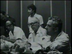 Proff. Broglio, Sirinian, Buongiorno, in piedi Brunelleschi e Civitella - RCC 1970