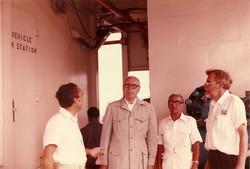 Proff. Broglio e Sirinian, Ing. Ambrogini e Dott. Quintilli, estate 1982 S. Rita