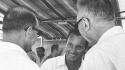 R. Frutkin, O. Schwarzenberger e L. Broglio dopo lancio 26.04.1967