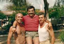 Umberto Tricarico, Pasquale Squitieri e Clemente Giovannelli al Campo Base