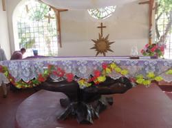 St. Stephen's - Altar being vested.JPG