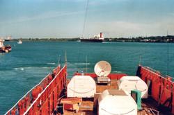 Nave con 3 igloo strumentazione CD TLC TM per operazione Lamu, lancio SM 1988.jpg