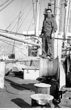 Febbraio 1967, Tom  Parisi sulla Galveston merchant in navigazione