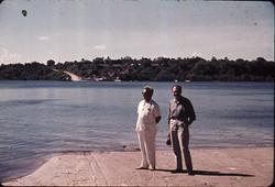 Ing. Gennaro Orsi con Console Italiano On. (Mombasa) Marcello Gallotti - Kilifi Ferry, 1962