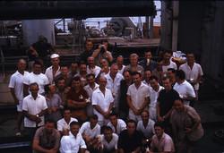 Prof. L. Broglio e personale campagna lanci razzi sonda - S. Rita, Formosa Bay, 1964