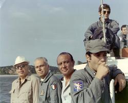 Prof. L. Broglio, T. Giacomelli e visitatori AMI, primi anni '70