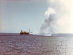 Exhaust smoke from Scout drifting over Ungwana Bay after lift-off.jpg