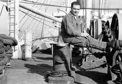 Febbraio 1967 Tom Parisi sulla Galveston Merchant in navigazione
