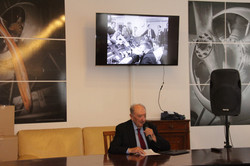 Gen. Gennaro Orsi lecturing on the early days of SMP, 26.04.17