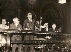 Convegno a Firenze, Proff. Giorgio La Pira (oratore), Luigi Broglio e altri