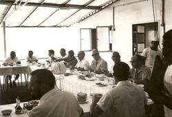 Pranzo di Natale 1967 sulla Santa Rita