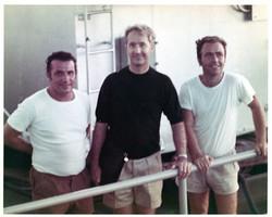 Di Giovanni e  Parisi con astronauta McDivitt sulla S. Rita