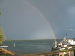 Rainbow over the bay  at Ngomeni.JPG