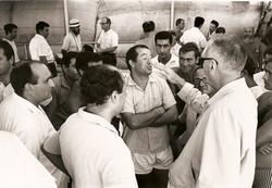 Prof. Broglio, ingegneri e tecnici commentano il primo lancio africano - 26.04.1967