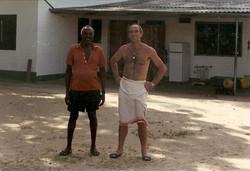 Umberto Tricarico e Mohamed Lali Kombo al Campo Base