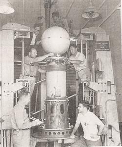 Second Stage of Shotput 7, Wallops Spin Balance Machine, July 1963.jpg