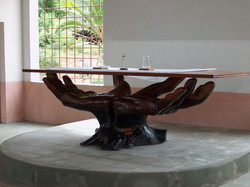 St. Stephen's - Altar support crafted out of driftwood by G. Pezzella.jpg