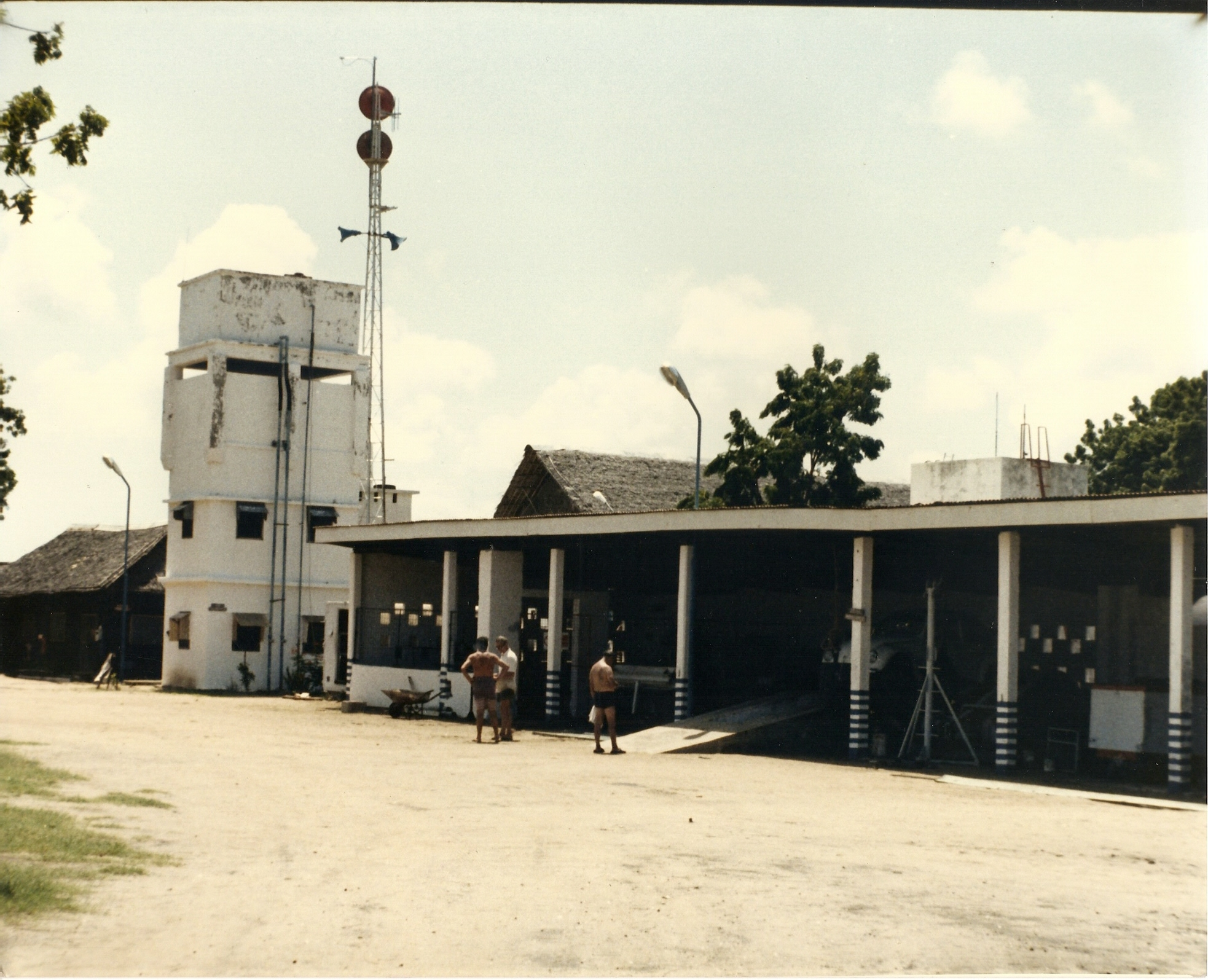 Base Camp, Early 70's, Water Tower, Mast with Boresight Antennas and Workshop.jpg