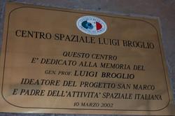 Targa di dedica al Prof. Broglio.JPG
