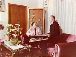 Il Prof. Luigi Broglio con la madre Margherita