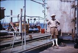 Prof. Michele Sirinian, ponte piattaforma S. Marco in allestimento, 1967