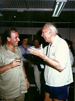Il Prof Broglio e Saporito dopo ultimo lancio 25.03.1988