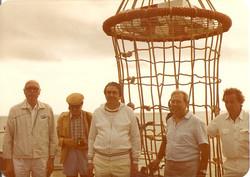 Prof. L. Broglio, Min. G. Tesini e R. Virno Lamberti sulla S. Marco, agosto 1981