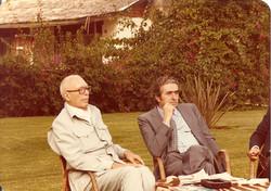 Prof. Luigi Broglio e Ministro Giancarlo Tesini, Malindi, agosto 1981