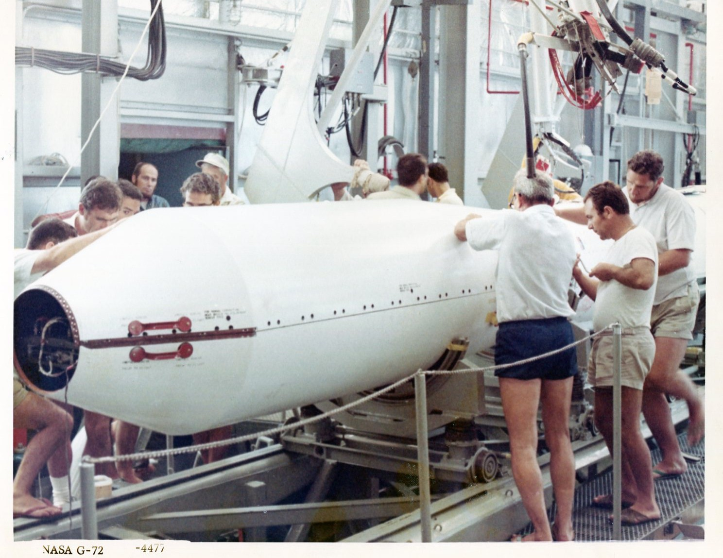 San Marco platform installation of heatshield on the scout