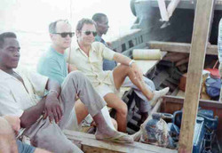 Kenya su un dahow con Nesbitt in viaggio veso piattaforma