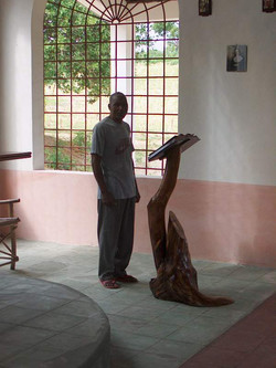 St. Stephen's - Paulo Kombo (donor of land plot) and missal