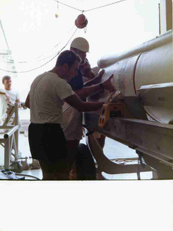 San Marcco Plat. Tom Parisi Clyde Winters working on Antares
