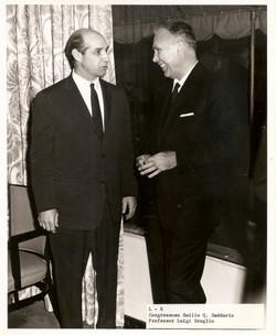 Prof. Broglio e Membro del Congresso USA Daddario