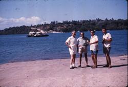 W. Mandini, G. Orsi, A. Marasca e N. Santoro - Kilifi Ferry, 1964