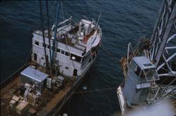 Nave appoggio Micoperi accostata alla S. Rita, 1964.jpg