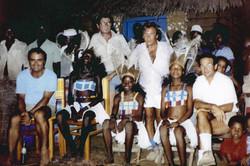 Saudella, Naletto, Caputo, Bernabei e danzatrici Giryama Ngomeni aprile 1983