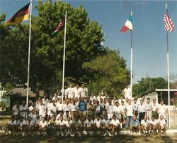 Gruppo ricordo al CB dopo ultimo lancio del 25.03.1988