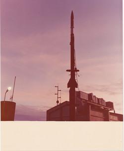 razzo NIKE-TOMAWE in posizione di lancio