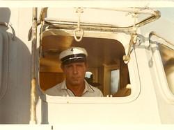 Eraldo Borghini al timone della motobarca