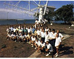 Prof. Broglio, gruppo San Marco e ospiti AMI, Campo Base, marzo 1988