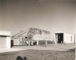 Scout S-137R on launch pad, Wallops Island, 1964.jpg
