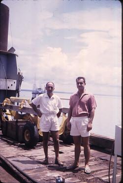 Prof. M. Sirinian e Ing. M. Casciola sulla San Marco, 1967